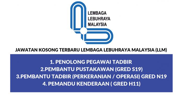 Jawatan Kosong Lembaga Lebuhraya Malaysia (LLM).