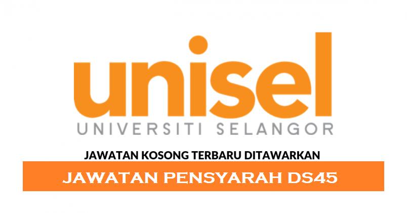 Permohonan Jawatan Kosong Universiti Selangor (UNISEL)
